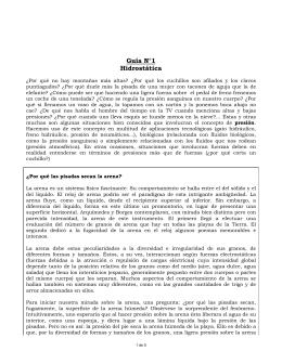Guía N°1 Hidrostática