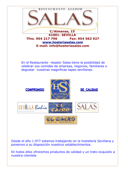 C/Almansa, 15 41001- SEVILLA Tfno. 954 217 796 Fax