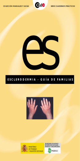 esclerodermia - guía de familias - Servicio de Información sobre