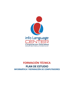 Plan de Estudio - Info Language Center | Inicio