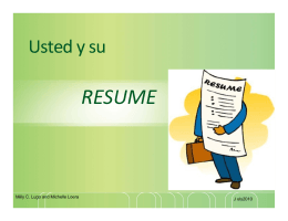 RESUME - City of Santa Ana
