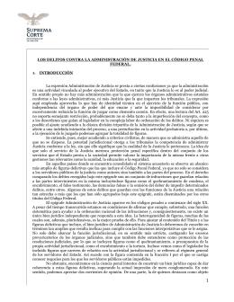 LOS DELITOS CONTRA LA ADMINISTRACIÓN DE JUSTICIA EN EL