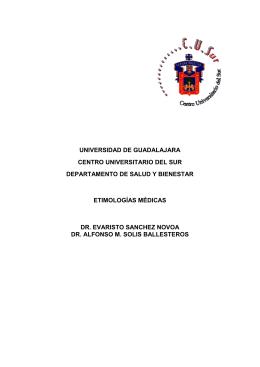 Taller de etimologías médicas - Centro Universitario del Sur