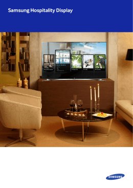 Samsung Hospitality Display