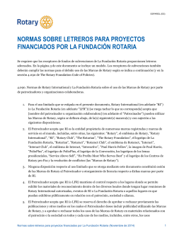 Normas sobre letreros para proyectos financiados por La Fundación