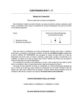 CUESTIONARIO M M P I – 2*