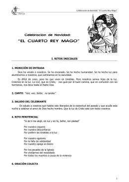 """CELEBRACIÓN DE NAVIDAD: """"El cuarto Rey Mago"""""""
