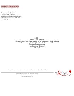 Redalyc. Religión, cultura e identidad en la obra de Naguib Mahfuz