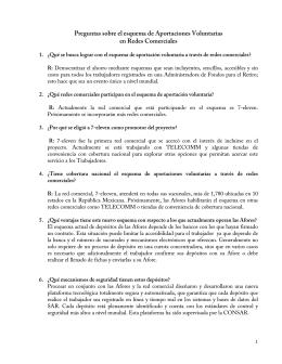 Preguntas sobre el esquema de Aportaciones Voluntarias