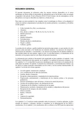 Resumen Ejecutivo BREF Metalurgia no Férrea