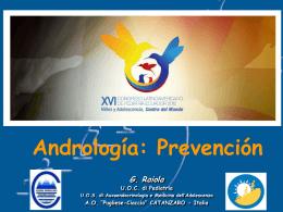 Conf 6. Andrologia. Prevención Dr. Giuseppe Raiola