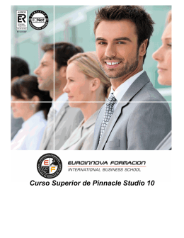 Curso Superior de Pinnacle Studio 10