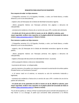 Nuevos requisitos para solicitar pasaporte Italiano en el