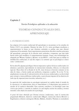 TEORÍAS CONDUCTUALES DEL APRENDIZAJE
