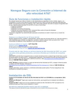 Navegue Seguro con la Conexión a Internet de alta velocidad AT&T