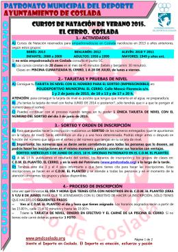 CURSOS DE NATACIÓN COSLADA VERANO 2015