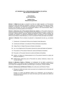 LEY ORGÁNICA DE LA PROCURADURÍA