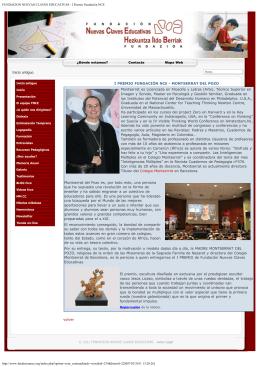 I Premio Fundación NCE