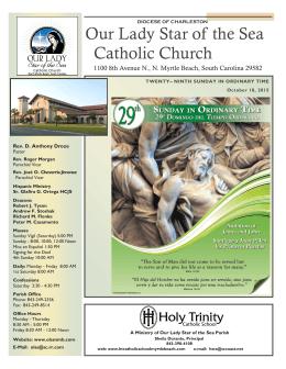 Church Bulletin for October 18, 2015