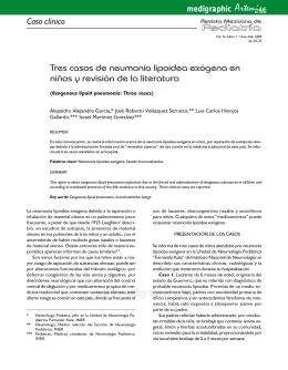 Tres casos de neumonía lipoidea exógena en niños y revisión de la