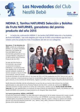 NidiNa 2, Tarritos NaTurNEs selección y Bolsitas de Fruta