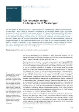 9. Un lenguaje amigo. La lengua en el Messenger. Lara