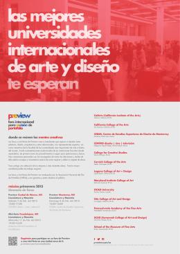 méxico primavera 2015 itinerario de foros donde se reúnen las