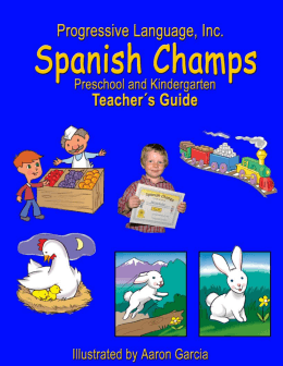 Spanish Champs Preschool and Kindergarten Curriculum