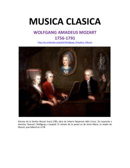 MUSICA CLASICA WOLFGANG AMADEUS MOZART