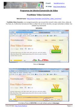Programas de Edición/Conversión de Video FreeMaker Video
