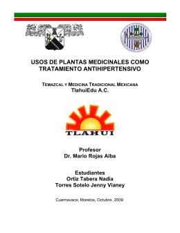 Usos de plantas medicinales como tratamiento