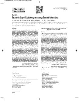 Propuesta de perfil de ácidos grasos omega 3 en nutrición enteral