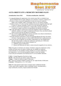 GUÍA ORIENTATIVA MEDICIÓN MOTORES SLOT