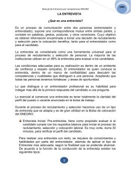 Manual de Entrevista por competencias SNEGRO