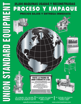 Union Standard Catalog-Spanish - Union Standard Equipment and