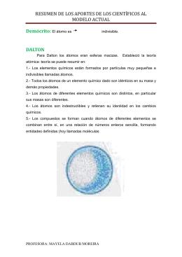 resumen de modelos atómicos - estudiandolatablaperiodica