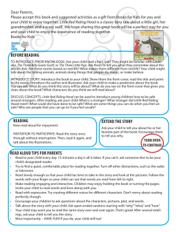 Little Red Riding Hood Activity Sheet in English and Spanish