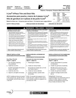 I-Line® 4-Piece Trim and Door Kits