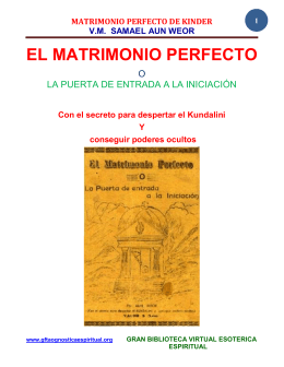 02 02 original matrimonio perfecto de kinder samael aun weor