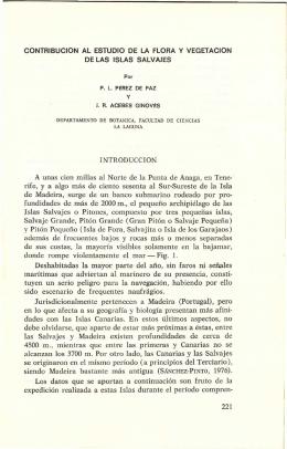 CONTRIBUCION AL ESTUDIO DE LA FLORA Y VEGETACION