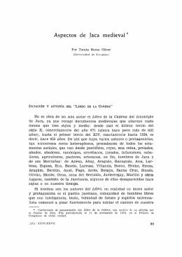 2. Aspectos de Jaca medieval, por Tomás Buesa