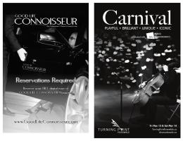 Carnival Program Reader - Turning Point Ensemble