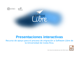 Presentaciones interactivas - Migración a Software Libre