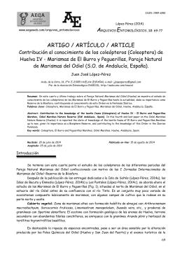 arquivos entomolóxicos - Asociación Entomolóxica Galega