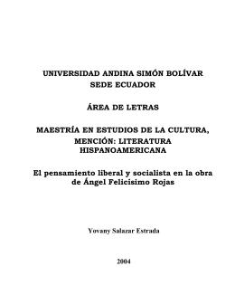 UNIVERSIDAD ANDINA SIMÓN BOLÍVAR SEDE ECUADOR ÁREA