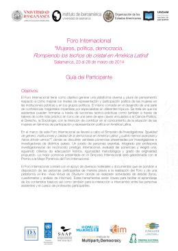 Foro Internacional - Instituto de Iberoamerica