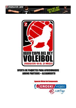 copa rey voleibol - oferta alojamientos para aficcionados