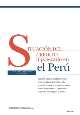 Situación del crédito hipotecario en el Perú