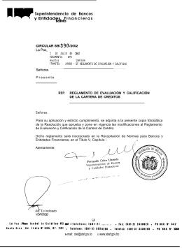 Superintendencia de Bancos y Entidades F i n a n c i e r a s Bolivia