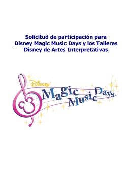 Solicitud de participación para Disney Magic
